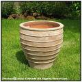 メリッサアンティコ鉢 広口 大型花鉢 輸入陶器鉢 テラコッタ シンプル 古仕上げ 高級感