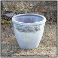 ばら模様 上品 ラウンド  軽量 軽い 植木鉢  アンティークローズライト 樹脂製 薔薇柄 高級感 好評 バラ柄 人気