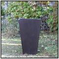 木目が美しい 室内専用の鉢カバー スクエアー 樹脂製鉢 MOKU 木の質感 背高 温かい木質 花鉢 Woody Finish