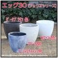 自然な風合い 古代仕上げ 軽量コンクリート フォリオ 輸入植木鉢 エッグ アンティーク仕上