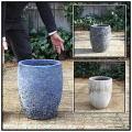 釉薬付陶器鉢 輸入植木鉢  コニック ボルカーノS  レア感 重厚感  アンティーク仕上