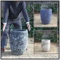 アンティーク仕上 レア感 重厚感 釉薬付陶器鉢 トールラウンド42 輸入植木鉢 ボルカーノ