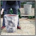 釉薬付陶器鉢 コニック 輸入植木鉢 ボルカーノS アンティーク仕上 レア感 重厚感