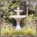 欧風ガーデン 小型噴水 ミラノ噴水 洋風ガーデン 石造噴水 小型2段噴水 イタルガーデン社 イタリア製