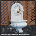 壁泉コルベッキオ 小型噴水 落下タイプ イタリア製 人工大理石 洋風ガーデン噴水 石造 家庭用噴水