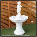 家庭用 イタリア製 石造 クラシックデザイン FO6003 イルカと子供の噴水 小型噴水