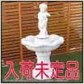 家庭用小型噴水 石像オーナメント イルカと子供の噴水 循環式 人工大理石 コンパクトサイズ ガーデンオブジェ