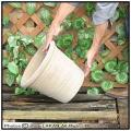 ハンドメイド ピエンザポット鉢 テラコッタ 輸入陶器鉢 ショコラ 丸型 花鉢