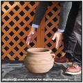 輸入 テラコッタ鉢 ツカーリ 素焼き鉢 すり鉢型 クレタ島 アンティーク調 ギリシア 壺