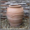 高級輸入陶器鉢 コロウバ鉢 テラコッタ鉢 両手付壺型ポット鉢 ギリシャ ハンドメイド鉢