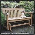 屋外家具 インドネシア チーク製 ロッキングベンチ