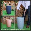 樹脂製植木鉢 マルキオーロ社  KIBO キボー 背高 円柱 高級輸入鉢 円筒型