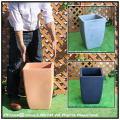ポリエチレン樹脂製  角型大型植木鉢鉢  背高角型ミラノ鉢 高級輸入樹脂植木鉢  マルキオーロ社
