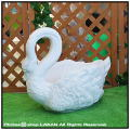動物プランター ユーロ3社 白鳥 スワン 大型樹脂鉢 ガーデンオブジェ 輸入樹脂植木鉢 動物モチーフ付花鉢 人気
