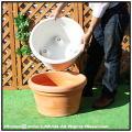 マルキオーロ社 人気デザイン バケツ型鉢 大型 PEDORO ポリエステル樹脂製 ペドロ鉢 高級輸入樹脂植木鉢 キャスター付