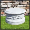 丸型コラム 丸型飾り台 ピレオ台座 クラシックガーデン 洋風 ガーデン台座 石造 イタリア製