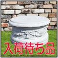 ピレオ台座 丸型コラム 石造台座 クラシック 人工大理石製 イタリア製 欧風ガーデン 飾り台