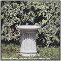 円柱型台座 イオス 石造花台 コラム ガーデンオブジェ 洋風庭園 石像 飾り柱