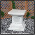 石像用台座 石造飾り台 イタリア製石造 ガーデン飾り台 カドーレ台座 人工大理石製 洋風ガーデン 石造台座コラム