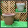 セラルンガ イタリア  ダブルリムポット  輸入樹脂植木鉢 クラシックデザイン大型樹脂鉢