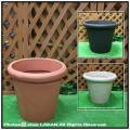 ガーデンプランター 樹脂製植木鉢 クラシックデザイン カメリアポット  セラルンガ 普遍人気 ポリエチレン樹脂