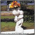 花鉢付子供 人形オブジェ イタリア石像 アイリス 洋風ガーデン 石像
