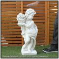 季節の子供 石造 花鉢 動物 子供像 イタリア 洋風ガーデン 洋風ガーデン 石像 秋
