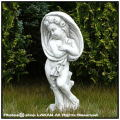 洋風ガーデン 春夏秋冬 季節の子供 石造 花鉢 動物 子供像 イタリア 石像 冬