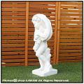 春夏秋冬 季節の子供  動物 冬  イタリア 石造 花鉢 石像 洋風ガーデン  子供像
