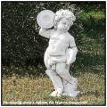 子供の楽団 シンバル 子供楽器 石造子供像シリーズ イタリア製 ガーデン石像 洋風庭園