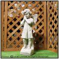 イタリア石像 彫像 洋風ガーデン 祈りの天使 石造 011201 エンゼル像 ガーデンオブジェ