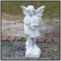 洋風ガーデン 011201  エンゼル像 祈りの天使 石造  ガーデンオブジェ  イタリア石像 彫像