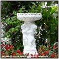 イタリア 洋風ガーデン  子供のフラワーポット 石造 花鉢 カップと3人の子供