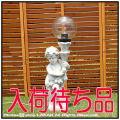 イタリア製彫像 オーナメント 天使の庭園灯 ガーデンオブジェ 子供石像 子供の庭園灯 エンゼル照明