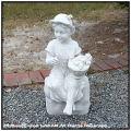 イタリア石像 彫像 洋風ガーデン エンゼル像 羊飼いの少女 ガーデン石像 子供像 ガーデンオブジェ