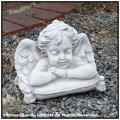 オブジェ  石造 天使 ガーデン 洋風庭園 クラシック イタリア子供像 人工大理石製