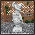 石像 楽器 クラシック イタリア石像 子供楽団・大/タンバリン 洋風ガーデン