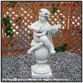 イタリア石像 子供楽団・大/マンドーラ 洋風ガーデン 石像 楽器 クラシック