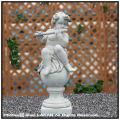 イタリア石像 子供楽団・大/フルート 洋風ガーデン 石像 天使 花鉢 石造 クラシック