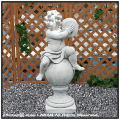 イタリア石像 子供楽団・大/シンバル 洋風ガーデン 石像 楽器 クラシック