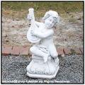 子供の楽団 子供坐像 ガーデン石像オブジェ ティエーポロ 子供楽器 石造子供像シリーズ イタリア製 洋風庭園