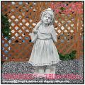 少女ルクレゼア イタリア石像 石造 エンゼル像 オブジェ 洋風ガーデン
