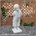 石造 エンゼル像 オブジェ イタリア石像 少年パオロ 洋風ガーデン