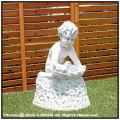 噴水蛇口 オブジェ子供像 貝を持つ子供 石造 花鉢 可愛い子供 イタリア 洋風ガーデン 石像
