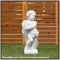 エンゼル像 天使 イタリア石像 彫像 洋風ガーデン 季節の子供 石造 四季 和やか オブジェ