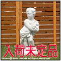 イタリア石像 季節の子供 天使 彫像 洋風ガーデン 和やか 石造 四季 エンゼル像 オブジェ
