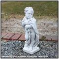 洋風ガーデン  オブジェ  彫像 和やか 天使  季節の子供 石造 四季 イタリア石像  エンゼル像
