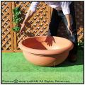 マルキオーロ社 デザインもサイズも豊富 キャスター プエブラ鉢  広口平鉢 高級輸入樹脂植木鉢 ポリエステル樹脂製