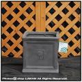 NEWステップボックス シンプル さいころ型鉢 R01 ファイバークレー 樹脂鉢 輸入鉢 大型 軽量 サイコロ型