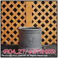 樹脂鉢 輸入鉢 大型 NEWラウンドボックス シンプル 円筒鉢 R04 ファイバークレー 軽量